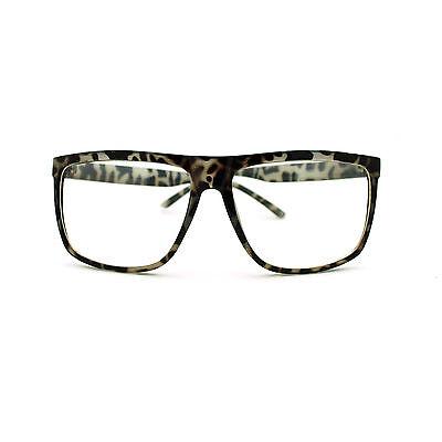 Large Oversized Plastic Frame Rectangular Geeky Nerd Fashion Clear Eye (Large Plastic Glasses)