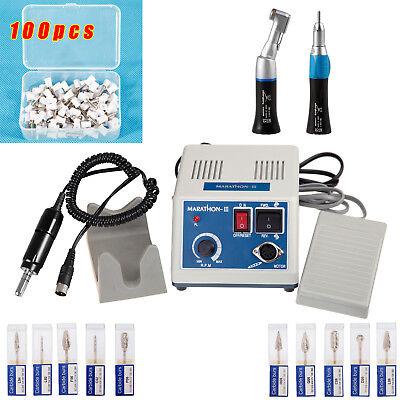 Dental Lab Marathon 35k Rpm Electric Micromotor Low Handpiece Burs Cup100 Black
