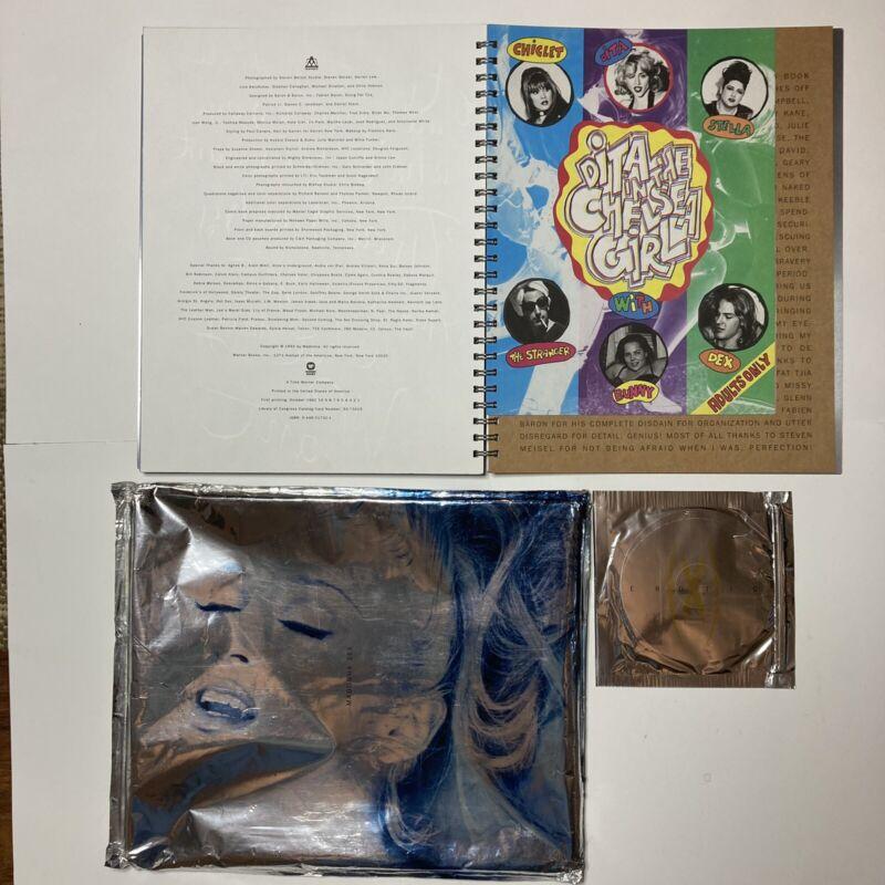MADONNA SEX BOOK w/ PROMO CD & DITA COMIC US 1992 1st Print WARNER BOOKS Erotica