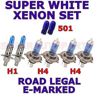 FORD TRANSIT CONNECT 2002+ H1 H4 H4 W5W SUPER WHITE halogen XENON LIGHT BULBS