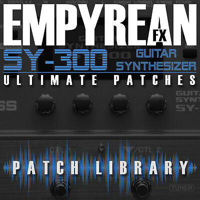 Boss Sy 300 Ultimate Patches Guitar Effects Settings Presets Free Fast Shipping