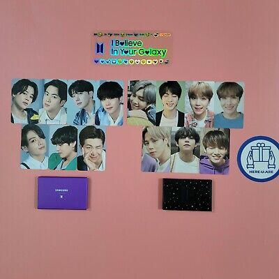 BTS photo card Official set S20 galaxy samsung  rare 14pcs 2set sticker Freebie