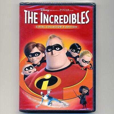 The Incredibles 2004 Pg Disney Pixar Animated Family Movie  New Dvd 2 Disc C E