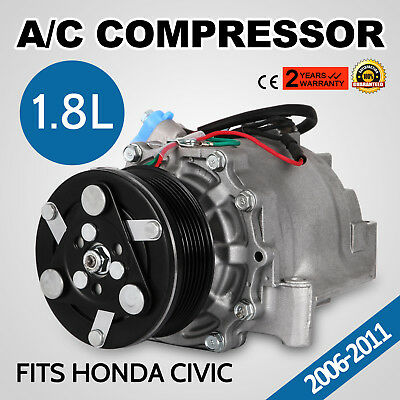 NEW A/C Compressor Clutch For Honda Civic 2006-2011 DX Sedan 4-Door 1.8L US