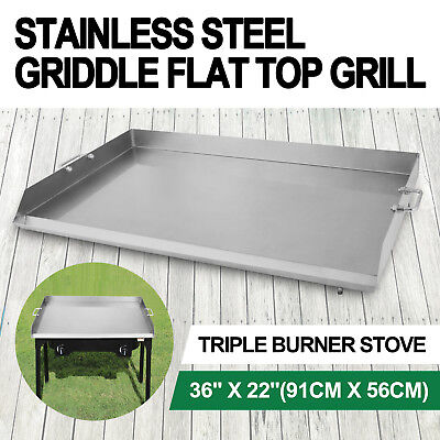 """36"""" x 22"""" Stainless Steel Griddle Flat Top Grill Plancha PAN"""