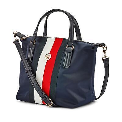 Tommy Hilfiger Poppy Small Tasche Damen Handtasche Schultertasche Shopper blau