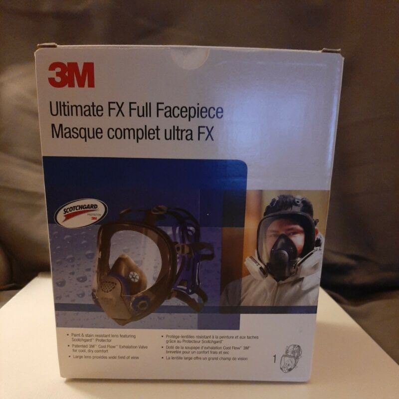 3M FF-402 Ultimate FX Full Facepiece Reusable Respirator, Medium OPEN BOX