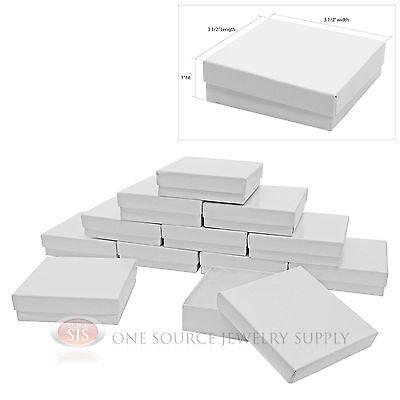 12 Gloss White Cotton Filled Gift Boxes 3 12 X 3 12 Jewelry Bangle Chain Box