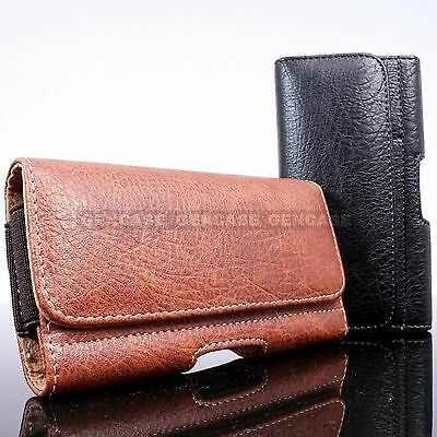 LARGE LEATHER POUCH CASE + BELT CLIP HOLSTER + CARD WALLET FOR NEW SMART PHONES