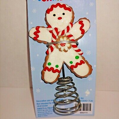 Brand New GINGERBREAD MAN COOKIE  Mini Christmas Tree Topper ()