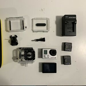 GoPro Hero 3+ Black with touch screen, two batteries and case