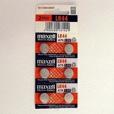6 NEW LR44 MAXELL A76 L1154 AG13 357 SR44 303 BATTERY
