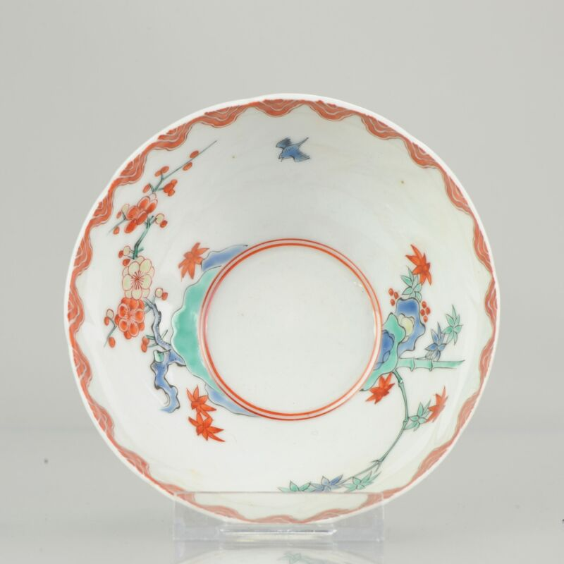 18th C Japanese Porcelain Bowl Kakiemon Decoration Arita Edo Period   [:...