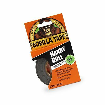 Black Gorilla Duct Tape Handy Roll All Weather Waterproof Adhesive Home Usa