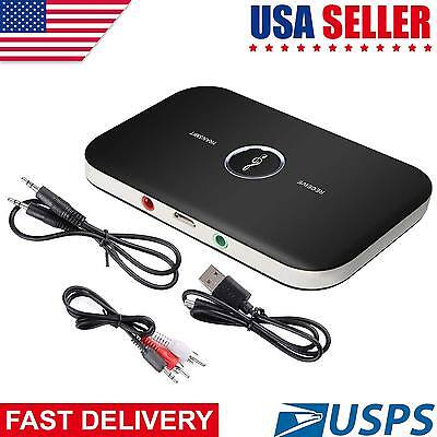 2in 1 Bluetooth Transmitter & Receiver Wireless A2DP for TV Stereo Audio Adapter