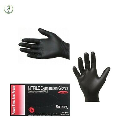 Nitrile Disposable Examination Gloves Powder-free Dental Medical Black 5 Mil Box