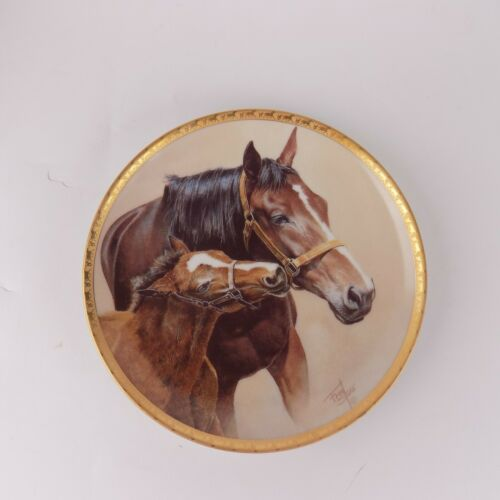 "American Artists Patience Fred Stone 1991 Horse Plate Number 2979 Size 6.5"" EUC"