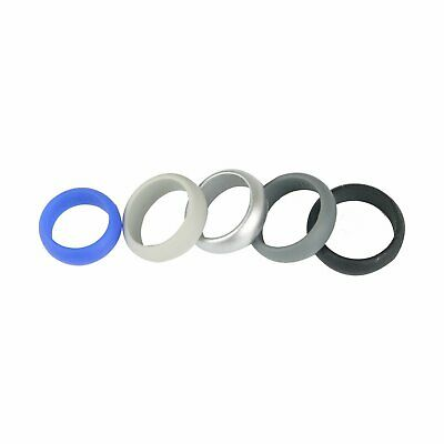 5X Silicone Wedding Engagement Ring Men Women Rubber Band Outdoor Sport Flexible Bands without Stones