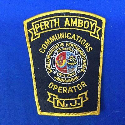 Perth Amboy N.J. Communications Operator Shoulder Patch FREE SHIPPING