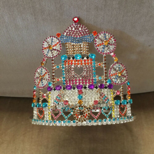 Vintage Child Beauty Pageant Crown Tiara Cupcake Lollipop Kawaii