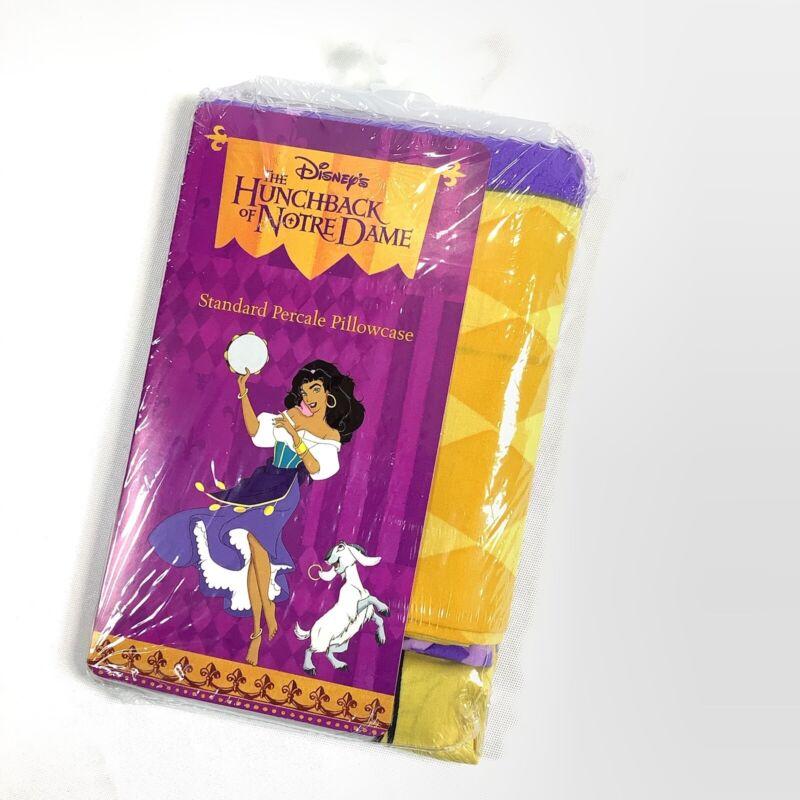 Vtg Disney Percale Pillowcase Hunchback Of Notre Dame Esmerelda Djali NOS Sealed