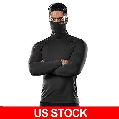 DRSKIN MASK SHIRTS Turtleneck Compression Base Layer Top Long Sleeve Cover Mouth Long Sleeved Turtleneck