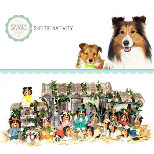 SAVANNASHOPS Dog Nativity Sheltie Gifts - Nativity Sets - Shetland Sheepdog