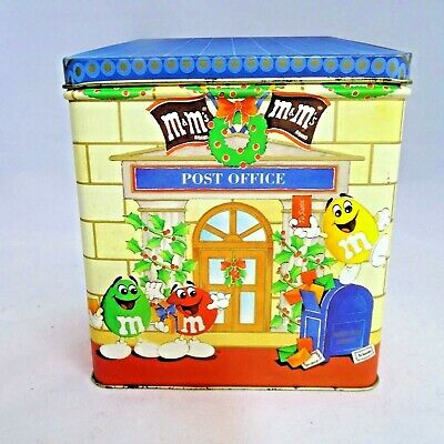 M&Ms Christmas Tin 1995 Letters for Santa Post Office Ltd Edition Vintage Empty