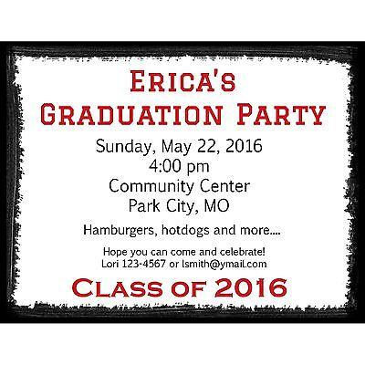 20 Graduation Party Invitations - High School Graduation - College Graduation (College Graduation Party Invitations)