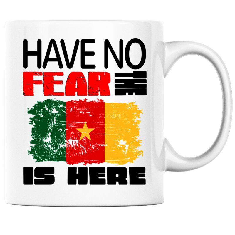 Have No Fear the ?Cameroonian is Here Funny Coffee Mug Cameroon Heritage Pride