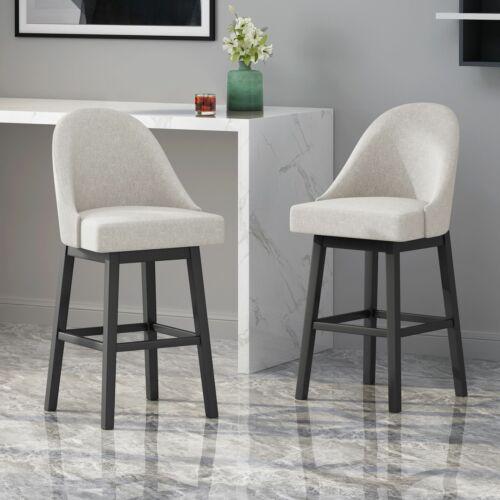 Andriel Modern Upholstered Swivel Bar Stool