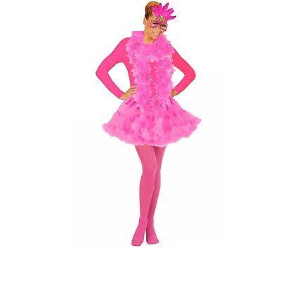 Widmann Kostümteile Flamingo pink Federn Flamingokostüm Damen Kostüm - Rosa Flamingo Kostüm