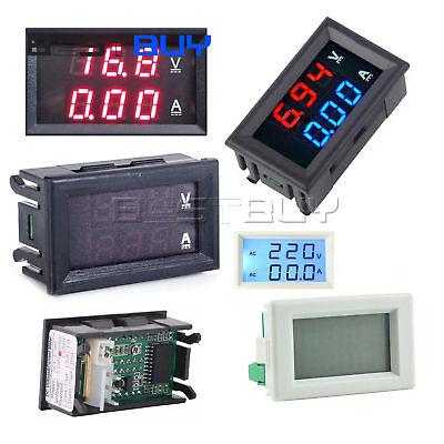 Dual Led Digital Voltmeter Ammeter Gauge Dc 0-100vac 80-300v 5102050100a