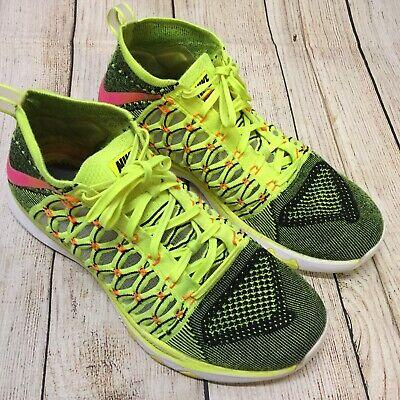 Men's Nike Flyknit Flex Speed Trainers Running Shoes Sz 11 843694 999 Yellow