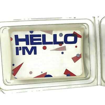 Pack Of Vintage 1980s Adhesive Name Badges Hello I'm For Theme Parties Plays](Office Party Themes)