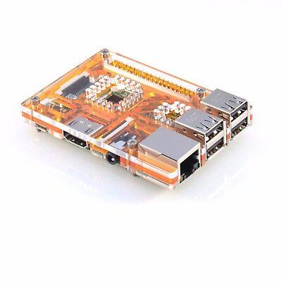 Arancione Acrilico Custodia per LAMPONE Pi 3 modello B vaultpi