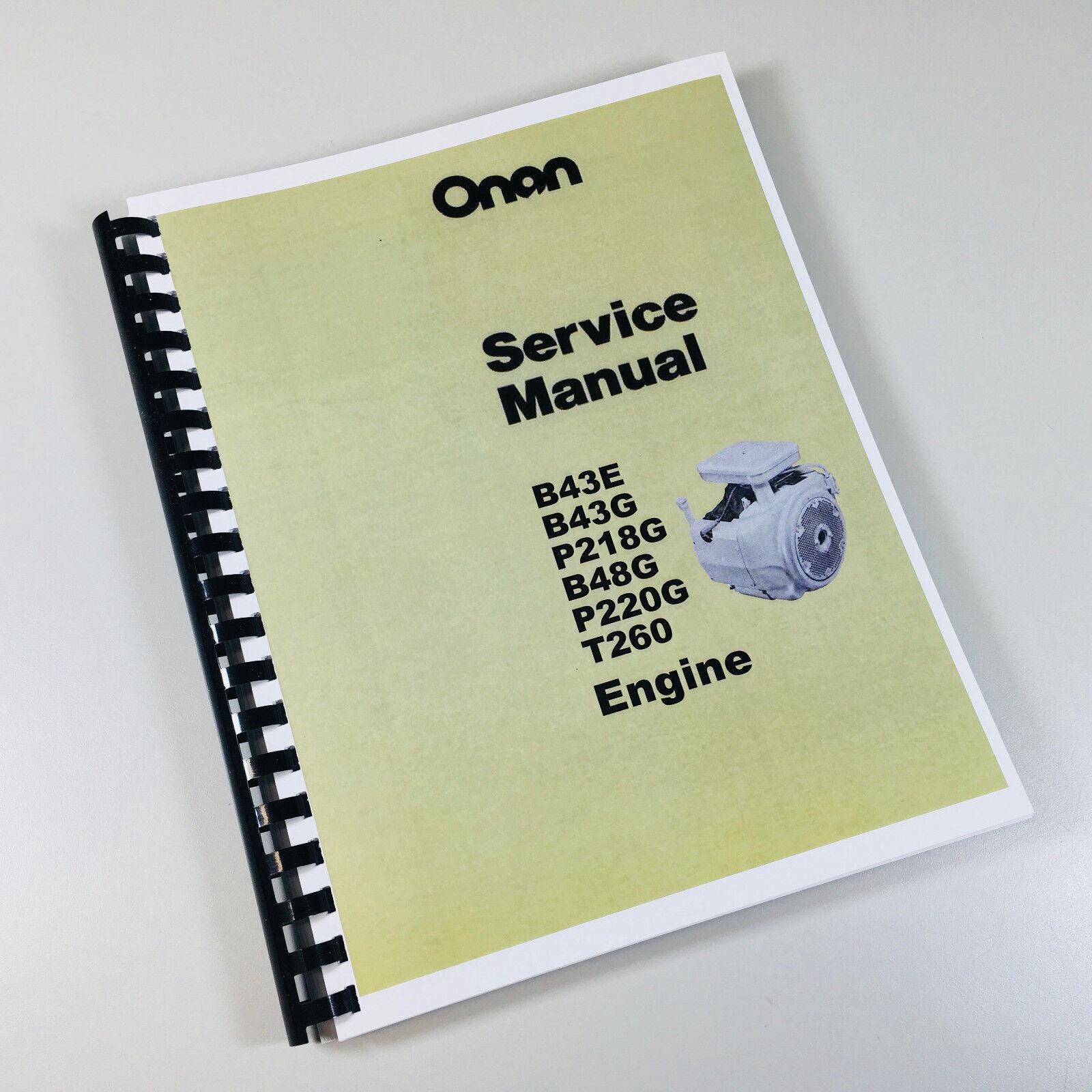 service manual for john deere 420 lawn mower garden tractor onan rh ebay com Onan P220G Replacement Engine Onan P220G Engine Block
