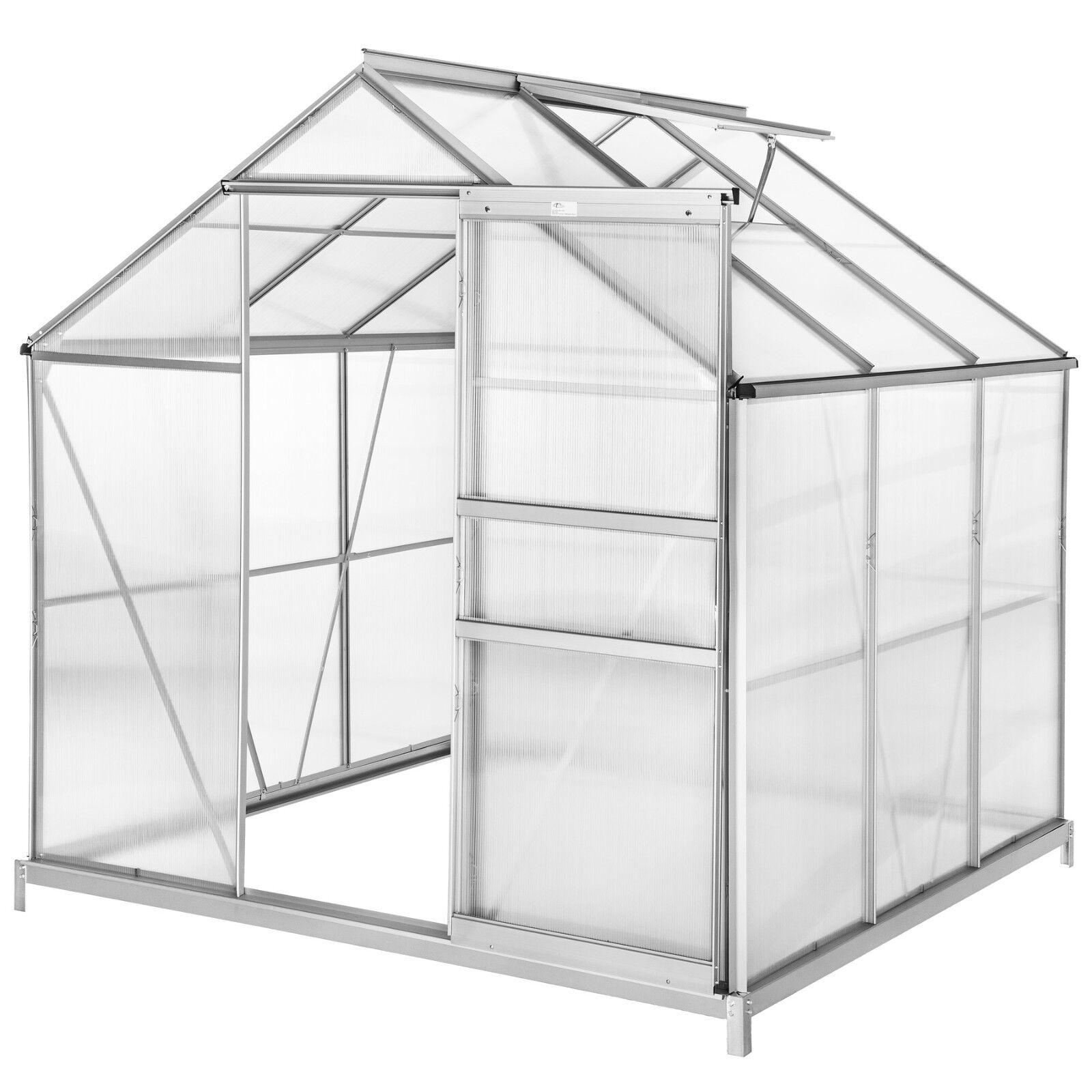 Alu broeikas serre polycarbonaat tuinkas kweekkas planten kas greenhouse 5,85 m³