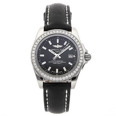 Breitling Galactic Sleek Steel Quartz 32mm Ladies Watch Strap A7133053/BF62
