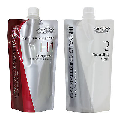 Shiseido Professional Crystallizing Straight H1 Straightener Noatural Hair Perm
