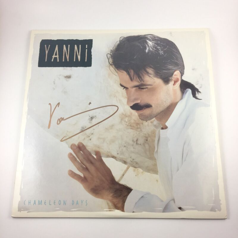 Yanni Signed Autographed Chameleon Days Vinyl Album PROOF Greek