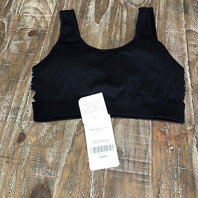 Fabletics Harper Seamless Sports Bra Black Size L NWT MSRP $40
