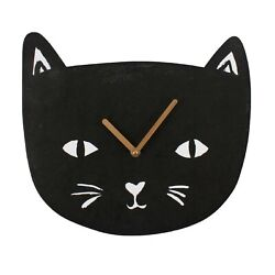 Black Cat Clock Brand New Novelty gift Cute Pet Lovers Paws And Claws Range