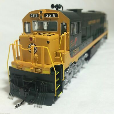 Korea Brass HO 1/87 Scale GE U25C U252011 Northern Pacific #2518 DC Model Train