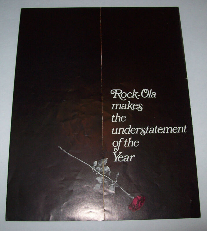 ROCK OLA MODEL 446 ORIGINAL JUKEBOX PROMO SALES FLYER BROCHURE 1971
