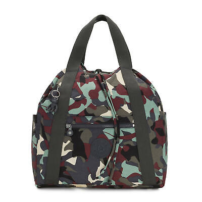 Kipling Art Medium Printed Tote Backpack Camo L