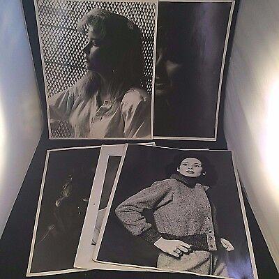 BLACK & WHITE FASHION PHOTOGRAPHY LOT FEMALE GLAMOUR MODEL 1970s 1980s VTG 11x14
