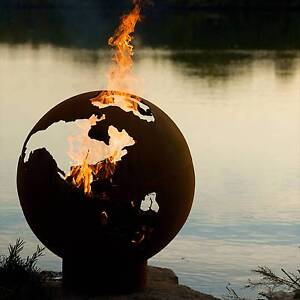NEW - Globe 1/4 Inch Carbon Steel Outdoor Wood Burning Fire Pit