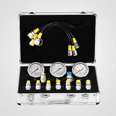 Excavator Hydraulic Pressure Gauge Test Kit 9000psi Lightweight 9in1 Testing
