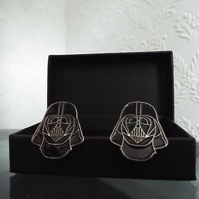 Pair of Stylish Star Wars Darth Vader Cufflinks in gift box
